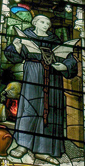 Stained class of the Monk Eilmer of Malmesbury